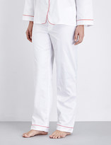 Bodas Cotton-sateen pyjama trousers