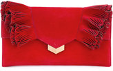Jimmy Choo Isabella clutch - women - Chamois Leather - One Size