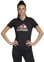 adidas Cotton Sports T-Shirt with Crew-Neck and Short Sleeves