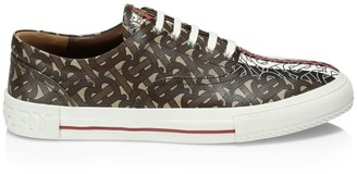 Burberry WIlson Monogram Stripe Canvas Sneakers