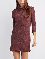 Charlotte Russe Ribbed Turtleneck Dress