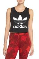 adidas Women's Trefoil Crop Muscle Tee