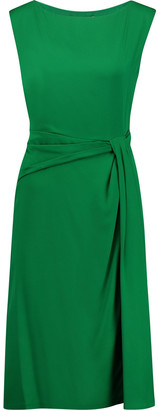 Diane von Furstenberg Aveline Pleated Silk-blend Dress