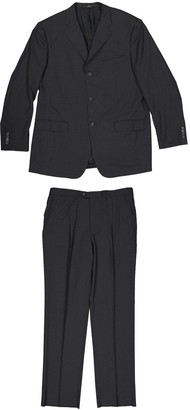 Valentino Anthracite Wool Suits