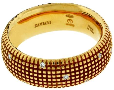 Damiani 18K Rose Gold Metropolitan Dream 0.14ct. Diamond Band Ring Size 6.5