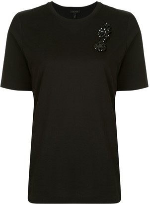 Escada crystal embellished T-shirt
