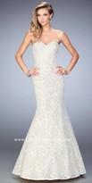 La Femme Sweetheart Lace Mermaid Prom Gown