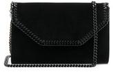Stella McCartney Falabella Box Velvet Clutch in Black.