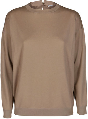 Brunello Cucinelli Beige Wool-cashmere Blend Jumper