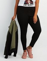 Charlotte Russe Plus Size High-Rise Ponte Knit Leggings