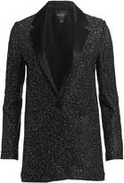 St. John Beaded Knit Tuxedo Jacket