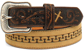 Ariat Tan Tooled Cross Leather Belt