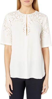 Theory Women's Antazie E2_Ghost Cre Woven (Tops)