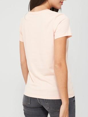 Very Sequin Pocket T-Shirt - Blush