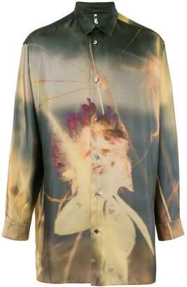 Oamc long photographic print shirt