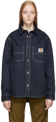 Carhartt Work In Progress Navy Chalk Shirt