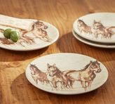 Pottery Barn Horse Cocktail Plate, Set of 4