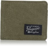 Original Penguin Men's Waxed Canvas Billfold