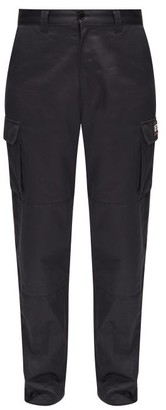 Vetements Police Logo Cotton-twill Cargo Trousers - Navy