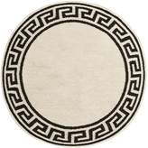 Jonathan Adler Round Greek key border rug