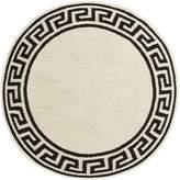 Jonathan Adler Round Greek key border rug