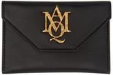 Alexander McQueen Black Insignia Envelope Card Holder