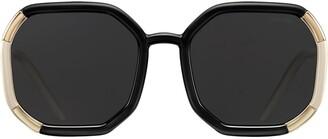 Prada Octagonal-Frame Tinted Sunglasses