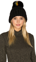 Eugenia Kim Rain Beanie With Fox Fur Pompom