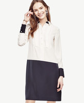 Ann Taylor Petite Colorblock Shirtdress