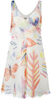 Armani Collezioni drawing print dress - women - Silk/Polyester - 44