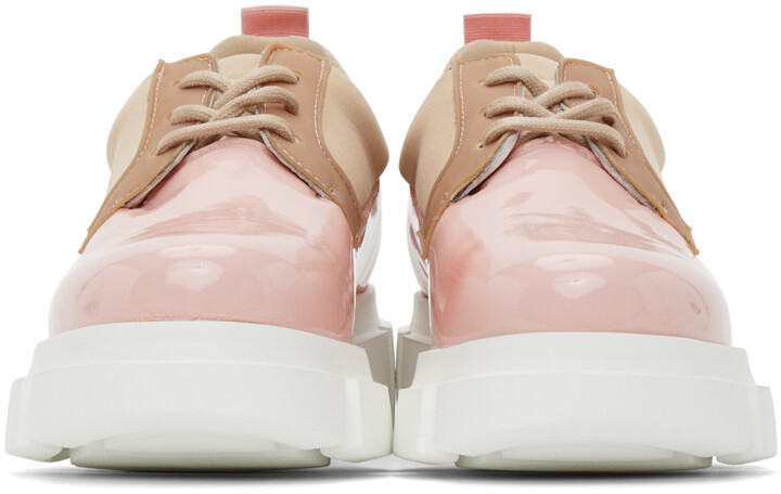 Thumbnail for your product : Joshua Sanders Pink Patent Velar Derbys