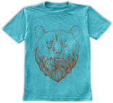 Urban Smalls Heather Aqua Bear Head Crewneck Tee - Toddler & Boys