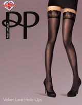 Pretty Polly Velvet Lace Hold-Ups Tights