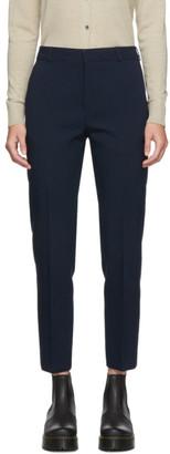 MAISON KITSUNÉ Navy Masculine Trousers