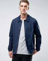 Original Penguin Coach Jacket Stretch In Navy