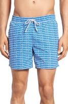 Lacoste Men's Logo Print Swim Trunks