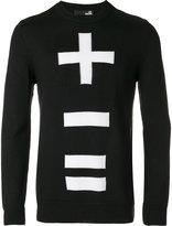 Love Moschino '+ - =' print sweatshirt - men - Acrylic/Virgin Wool - S