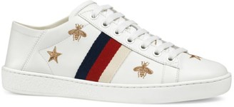Gucci New Ace Sneakers With Bees And Stars