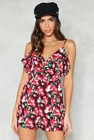 Nasty Gal Don't Grow Floral Romper