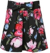 Sateen Floral Skirt