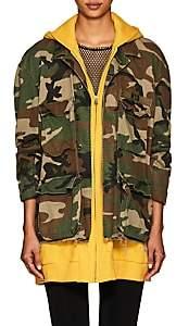 R 13 Women's Abu Camouflage Cotton Field Jacket - Yellow