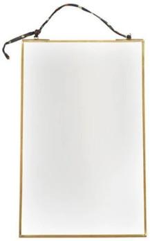 Nkuku Antique Brass Medium Kiko Mirror