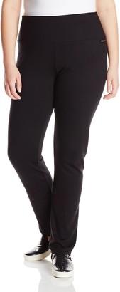 Calvin Klein Women's Plus-Size Ponte Knit Straight Leg Pant