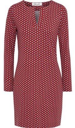 Diane von Furstenberg Reina Printed Stretch-jersey Mini Dress