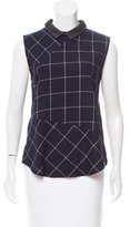 Band Of Outsiders Leather-Accented Sleeveless Top