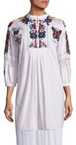 Valentino Embroidered Beaded Cotton Tunic