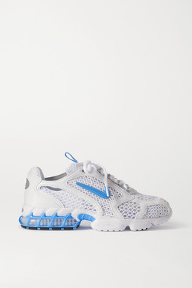 Nike Air Zoom Spiridon Cage 2 Faux Leather-trimmed Mesh Sneakers - White