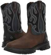 Wolverine Ranch King - Composite Toe (Brown/Blue) Men's Work Boots