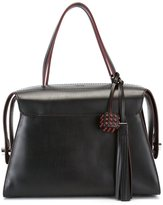 Tod's clasp closure tote bag - women - Leather - One Size