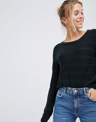 JDY striped knitted sweater